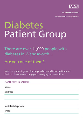diabetes support card
